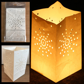 White Candle Lanterns