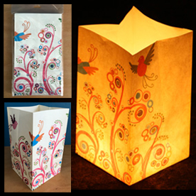 Colourful Birds Candle Lanterns